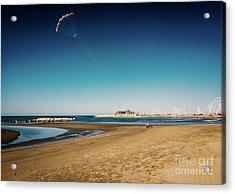 Kitesurf On The Beach Acrylic Print