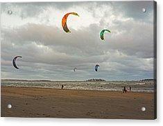 Kitesurfing On Revere Beach Acrylic Print