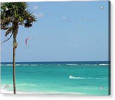 Kitesurfing The Caribbean Acrylic Print