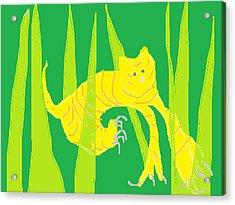 Kitten In The Grass Acrylic Print