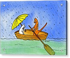 Kitties In A Boat Acrylic Print by Norma Appleton