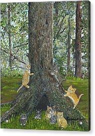 Kitties Acrylic Print