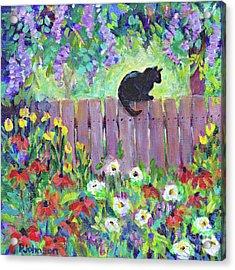 Kitty's Garden By Peggy Johnson Acrylic Print