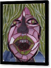 Kiwi - Fantasy Face No. 10 Acrylic Print by Gila Rayberg