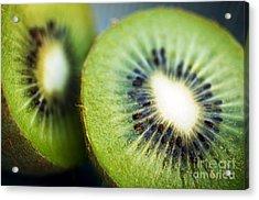 Kiwi Fruit Halves Acrylic Print