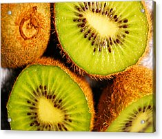 Kiwi Fruit Acrylic Print by Nancy Mueller