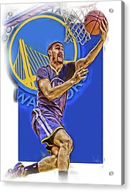 Klay Thompson Golden State Warriors Oil Art Acrylic Print by Joe Hamilton