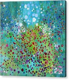 Klimt's Garden Acrylic Print