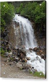 Acrylic Print featuring the photograph Klondike Waterfall by Ed Clark