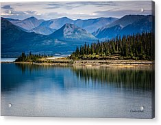 Acrylic Print featuring the photograph Kluane Lake by Claudia Abbott
