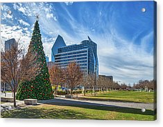 Klyde Warren Park At Christmas Acrylic Print by Tod and Cynthia Grubbs