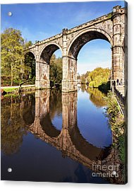 Acrylic Print featuring the photograph Knaresborough Viaduct, North Yorkshire by Colin and Linda McKie