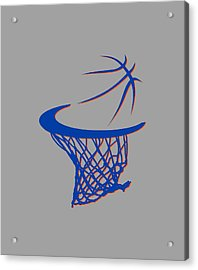 Knicks Basketball Hoop Acrylic Print by Joe Hamilton