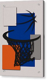 Knicks Hoop Acrylic Print by Joe Hamilton