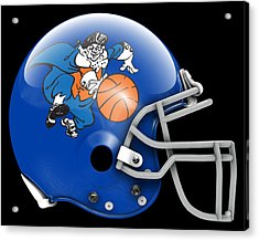 Knicks What If Its Football 2 Acrylic Print by Joe Hamilton