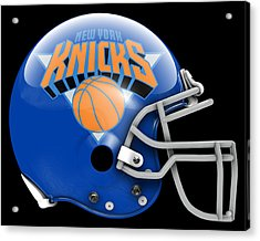 Knicks What If Its Football Acrylic Print by Joe Hamilton