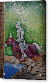 Knight  A Coming Acrylic Print