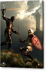 Knight Fight Acrylic Print