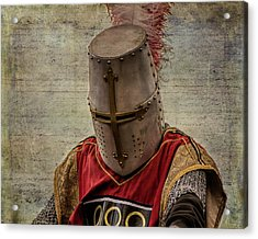 Acrylic Print featuring the photograph Knight In Armor by Mary Hone