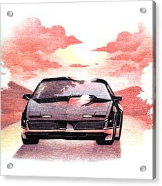 Acrylic Print featuring the digital art Knight Rider by Gina Dsgn