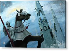 Knight Time Acrylic Print by Denise M Cassano