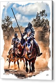 Knights Of Yore Acrylic Print by Tom Schmidt