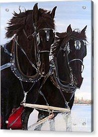 Knights On Four Acrylic Print