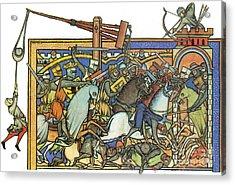 Knights Templar 13th Century Acrylic Print by Photo Researchers