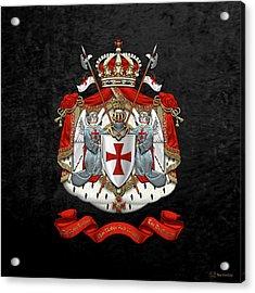 Knights Templar - Coat Of Arms Over Black Velvet Acrylic Print