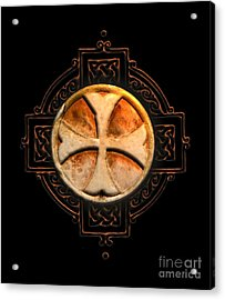 Knights Templar Symbol Re-imagined By Pierre Blanchard Acrylic Print