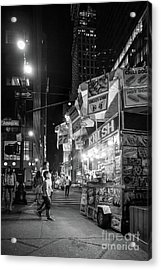 Knish, New York City  -17831-17832-bw Acrylic Print