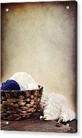 Knitting Supplies Acrylic Print