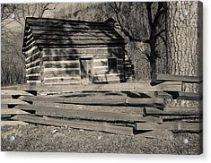 Knob Creek Cabin Acrylic Print by Mark Bowmer