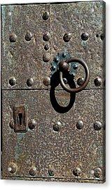 Knock Three Times Acrylic Print by Jez C Self
