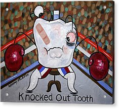 Knocked Out Tooth Acrylic Print by Anthony Falbo