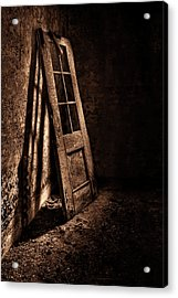 Knockin' At The Wrong Door Acrylic Print by Evelina Kremsdorf