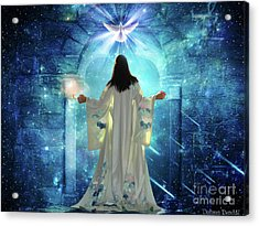 Acrylic Print featuring the digital art Knocking On Heavens Door by Dolores Develde