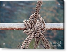 Acrylic Print featuring the photograph Knot Of My Warf by Stephen Mitchell