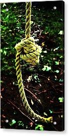 Acrylic Print featuring the photograph Knott by Cyryn Fyrcyd