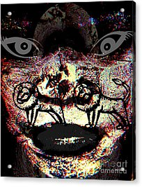 Knowing Darkness Acrylic Print by Fania Simon