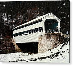 Knox Covered Bridge Historical Place Acrylic Print