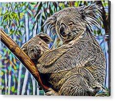 Koala Bear Mom And Child Acrylic Print