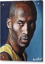 Kobe Bryant  Acrylic Print by Bernard Morille