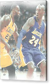 Kobe Bryant Lebron James 2 Acrylic Print
