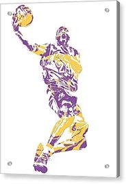 Kobe Bryant Los Angeles Lakers Pixel Art 24 Acrylic Print