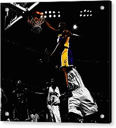 Kobe Bryant On Top Of Dwight Howard Acrylic Print by Brian Reaves
