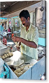 Acrylic Print featuring the photograph Kochi Stall by Marion Galt
