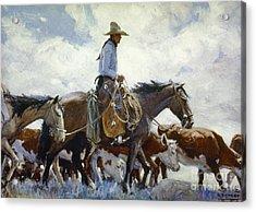 Koerner: Cowboy, 1920 Acrylic Print by Granger