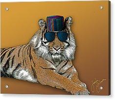 Kofia Tiger With Shades Acrylic Print