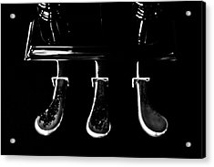 Kohler And Cambell Pedals Black And White Acrylic Print by Sam Hymas